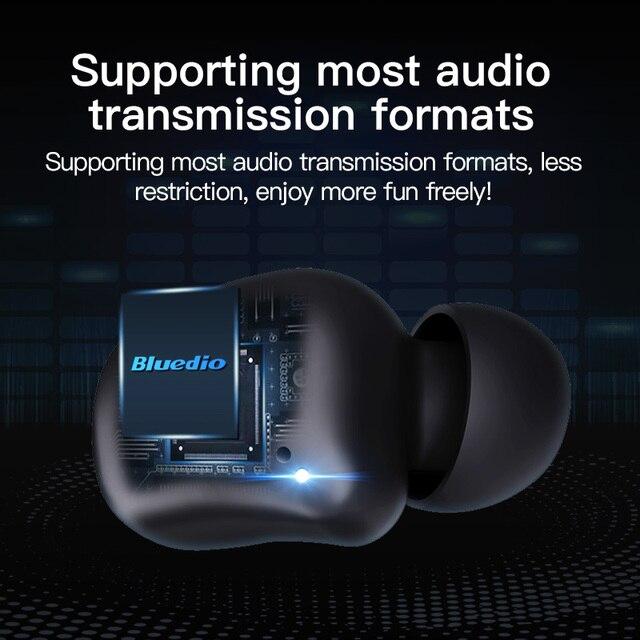 Bluetooth earphone Bluedio T-elf 2 Sports Headset with charging box 5