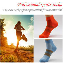 Outdoor Sports Running Athletic Performance Training Cushion Quarter Man woman Compression Socks Heel Shield Cycling  Breathable