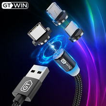 GTWIN Magnetic USB Fast Charging Cable Micro USB Type C Charger Cable For iPhone 11 Pro Max Xiaomi Mix Alpha Huawei Magnet USB-C серьги марказит he1129 mr