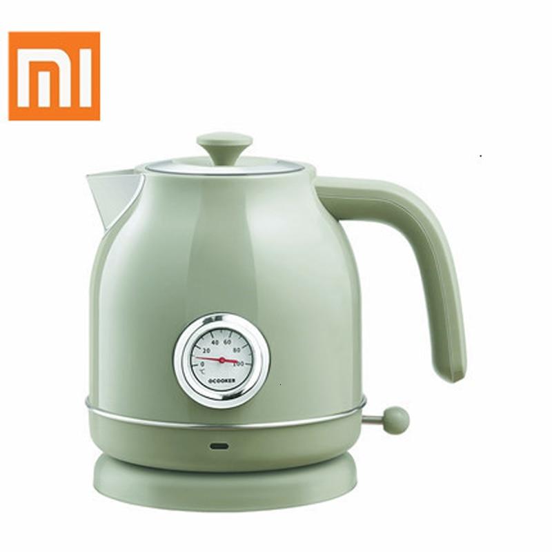 Оригинальный электрический чайник Xiaomi Youpin qcooker, контроль температуры на входе 1,7л, большой электрический чайник, часы