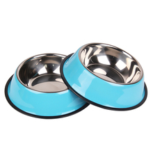 2pc / set stainless steel dog bowls, adorable food water drink dishes cat feeder puppy  products bowls