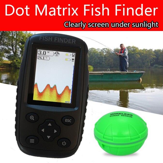 Совершенно новый большой экран матричный рыболокатор умный sonar сенсор, беспроводной рыболокатор Бесплатная доставка