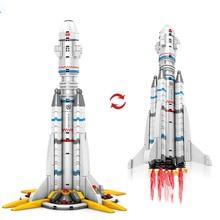 the earth Rocket  Building Block City Space Aerospace Shuttle Astronaut Launch Bricks  toy for kid gift стоимость
