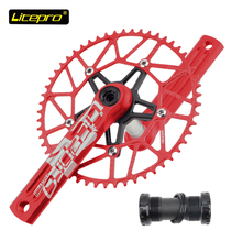 Litepro edge crankset Single chainring 8/9/10/11s speed road rower składany rower 50/52/54/56/58T BCD 130mm BB BSA 170mm