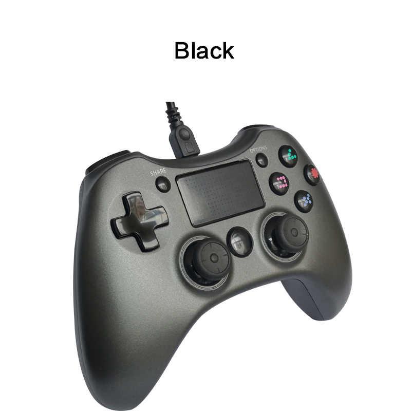 USB السلكية المقود ل PS4 تحكم للبلاي ستيشن 4 وحدة التحكم نيتها إصدار قبضة 4 PS4 PS3 التبديل PC تي في بوكس أندرويد أذرع التحكم في ألعاب الفيديو