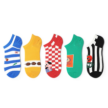 Interesting New Ladies Thin Section Cotton Tide Socks Style Fashion Personality Cartoon Boat