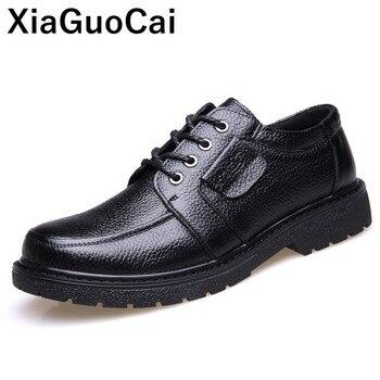 Zapatos de cuero genuino para hombre, zapatos de vestir británicos de lujo, zapatos Derby casuales para primavera y otoño, zapatos de punta redonda de alta calidad, Dropshipping