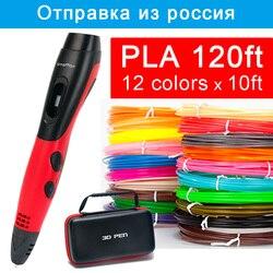 SMAFFOX 3D penna supporto ABS e PLA filamento fai da te disegno a penna con display lcd di stampa penna con 5V 2A adattatore