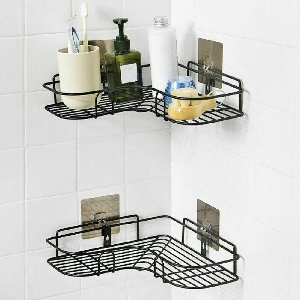 Bathroom Corner Bath Storage Holder Organizer Rack Triangular Shower Shelf
