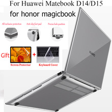 Laptop-Case Honor Huawei Matebook Shell-Cover for Crystal-Clear Hard Transparent Matte