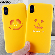 Devil Smile Phone Case for iPhone X XR XS Max 8 7 6 S Plus Halloween Cases Soft Silicone Fitted Mobile Phone Accessories Covers цена и фото