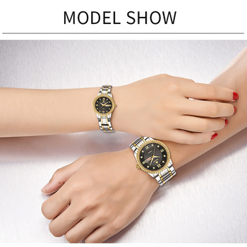 Stainless Steel Quartz Couples Watch Set 2