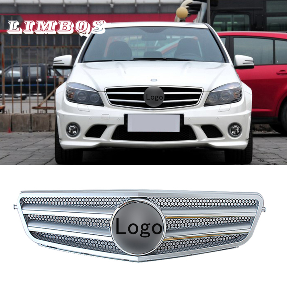 Car intake <font><b>grille</b></font> for <font><b>Benz</b></font> <font><b>W204</b></font> C63 2007-2014 series car front air flow vent cover lntake decoration stickers hole cover image