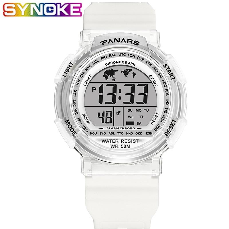 SYNOKE Children Sports Digital Watches Waterproof Led Boys Girls Digital Wristwatch Kids Waterproof Students Electronic Watches