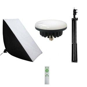 Image 5 - 写真連続照明キット220v 100ワットled補助ランプ照明ソフトボックスライトスタンド三脚フォトスタジオアクセサリー