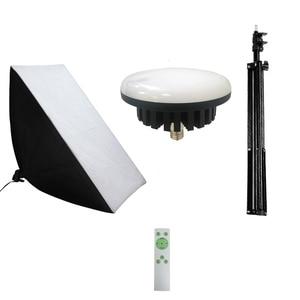 Image 5 - Kits de iluminación de fotografía continuo 220V 100W LED lámpara de relleno con iluminación Softbox trípode con soporte para Luz Accesorios de estudio fotográfico
