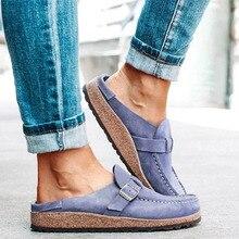 Verano de pisos de época mujer de los zapatos de costura hebilla holgazanes ocasionales del caramelo de las señoras de los zapatos del color Zapatos sin cordones Comfort Mujer Zapatillas