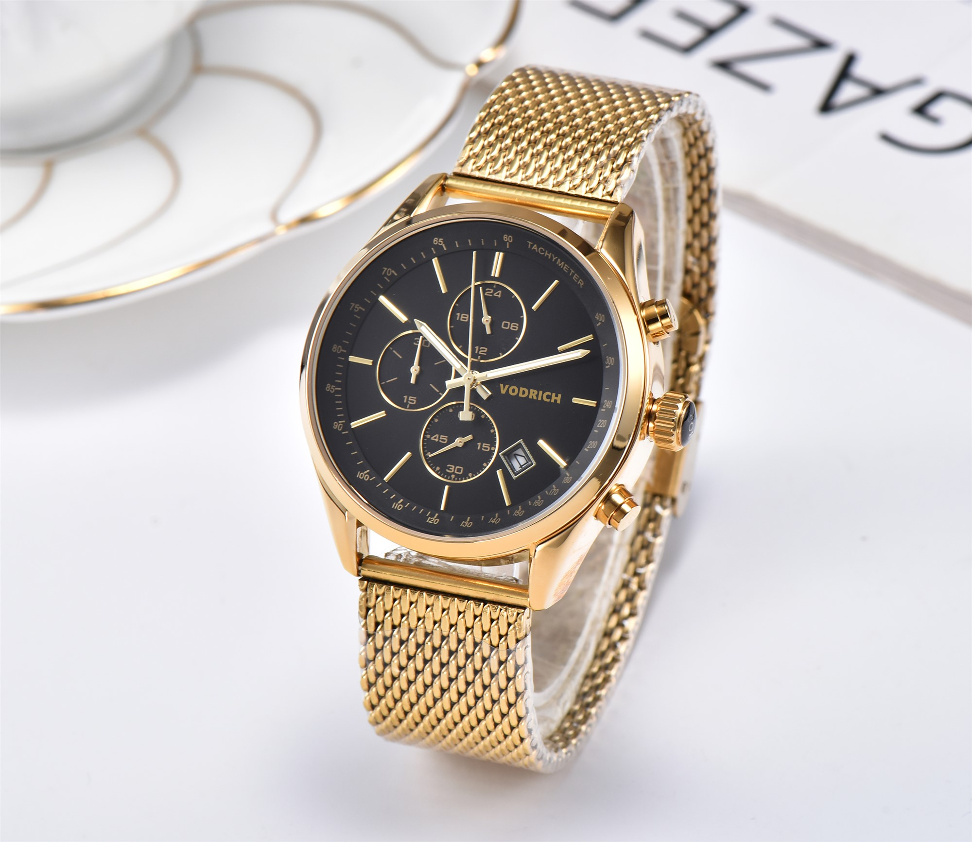 Men's Six-pin Multi-function Watch With Stainless Steel Strap.  A Must For 2020 Fashion Men.