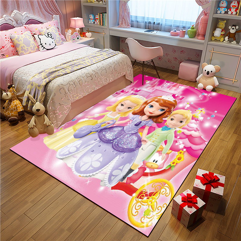Princess Sofia Mat Bathroom Child Boy Girl Carpet Hallway Doormat Anti - Slip Bathroom Carpet Absorb Water Kitchen Mat/Rug