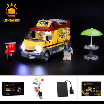 LIGHTAILING LED Light Kit For City Series Pizza Van Light Seting Compatible With 60150 (NOT Include The Model) цена 2017