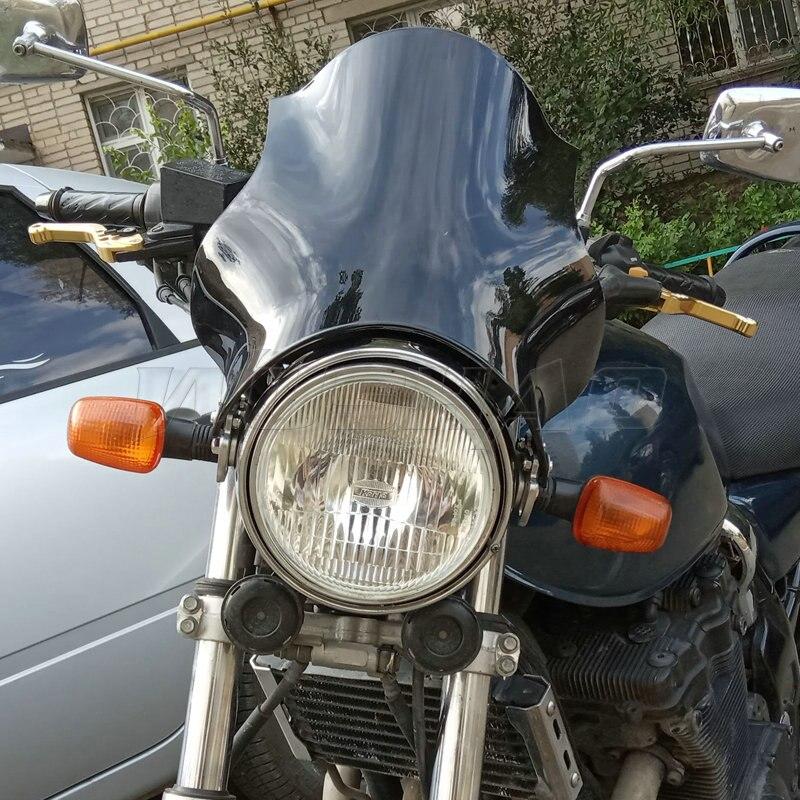 1 шт. лобовое стекло мотоцикла Фара стекло экран для Honda Kawasaki Yamaha Suzuki Bandit велосипед ветровое стекло Щит