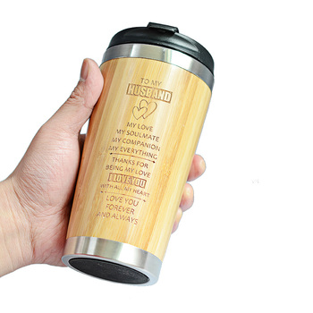 400MLTravel Coffee Mugs Bamboo Stainless Steel Cup Coffee Drink Bottle Flask Bambu Water Mugs For Mother's Day Gift 4