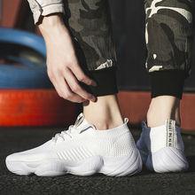 2020 nowych mężczyzna przypadkowi buty wygodne duże rozmiary oddychające sportowe męskie tenisówki biały tanie tanio OEING Siateczka (przepuszczająca powietrze) OUTDOOR CN (pochodzenie) Lato Buty casualowe Adult
