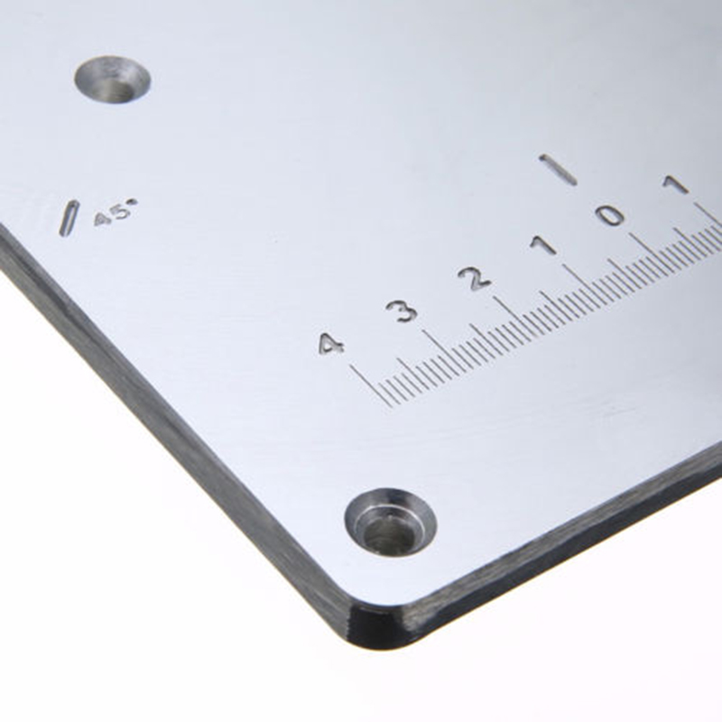 Aluminum Router Tables Insert Plate 4 Rings Screws For Woodworking Benches