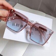 Quadratischen Sonnenbrille Frauen Neue Modus T Blau Sonnenbrille Weibliche Gradienten Elegante Shades Mnner Große Brillen