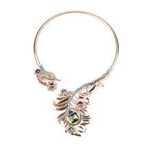 United States of big shop sign necklace fashion exaggerated alloy set auger peacock collar women adorn article sautoir(China)