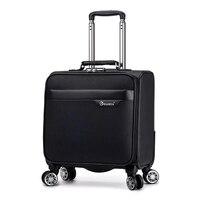 18 ''reise koffer auf rädern Kabine tragen auf trolley gepäck tasche herren business koffer mode wasserdichte oxford gepäck tasche