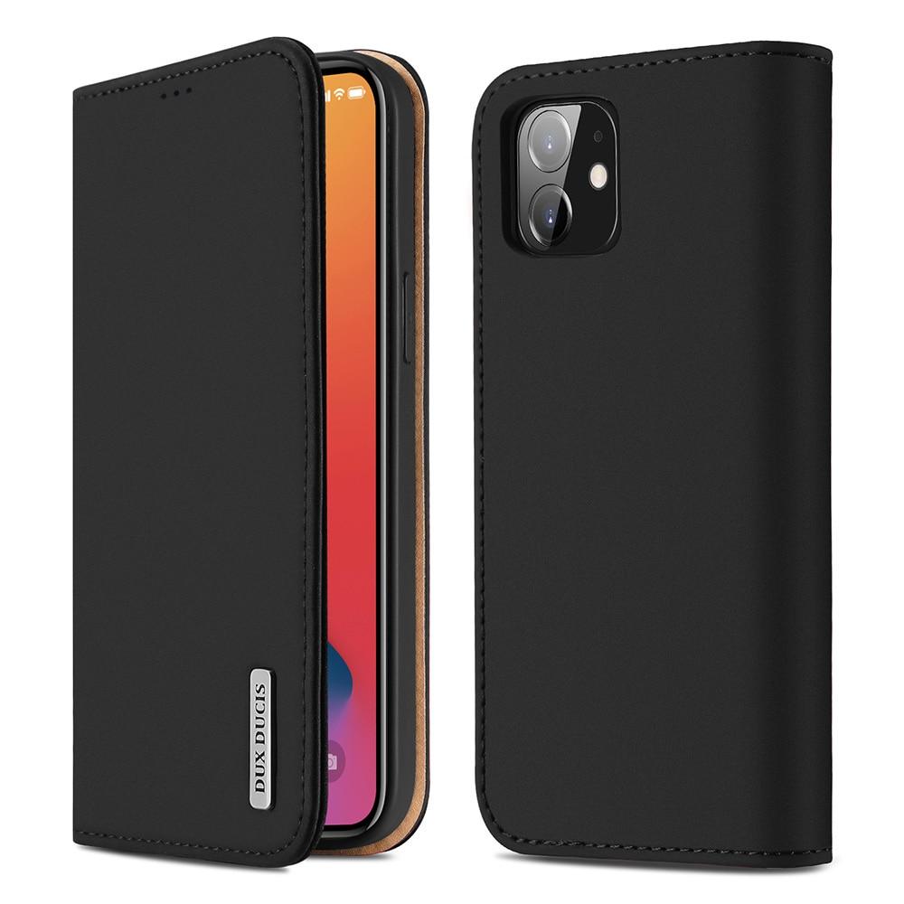Dux ducis luxo caso carteira de couro genuíno para o iphone 12 11 pro 11pro max x xs max xr 6s 7 8 plus titular do cartão telefone capa|Estojos p/ carteira|   -