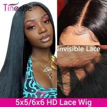 Perruque Lace Closure Wig brésilienne naturelle – Tinashe, cheveux lisses, 4x4 6x6, 5x5, HD, 250 de densité, perruque pour femmes