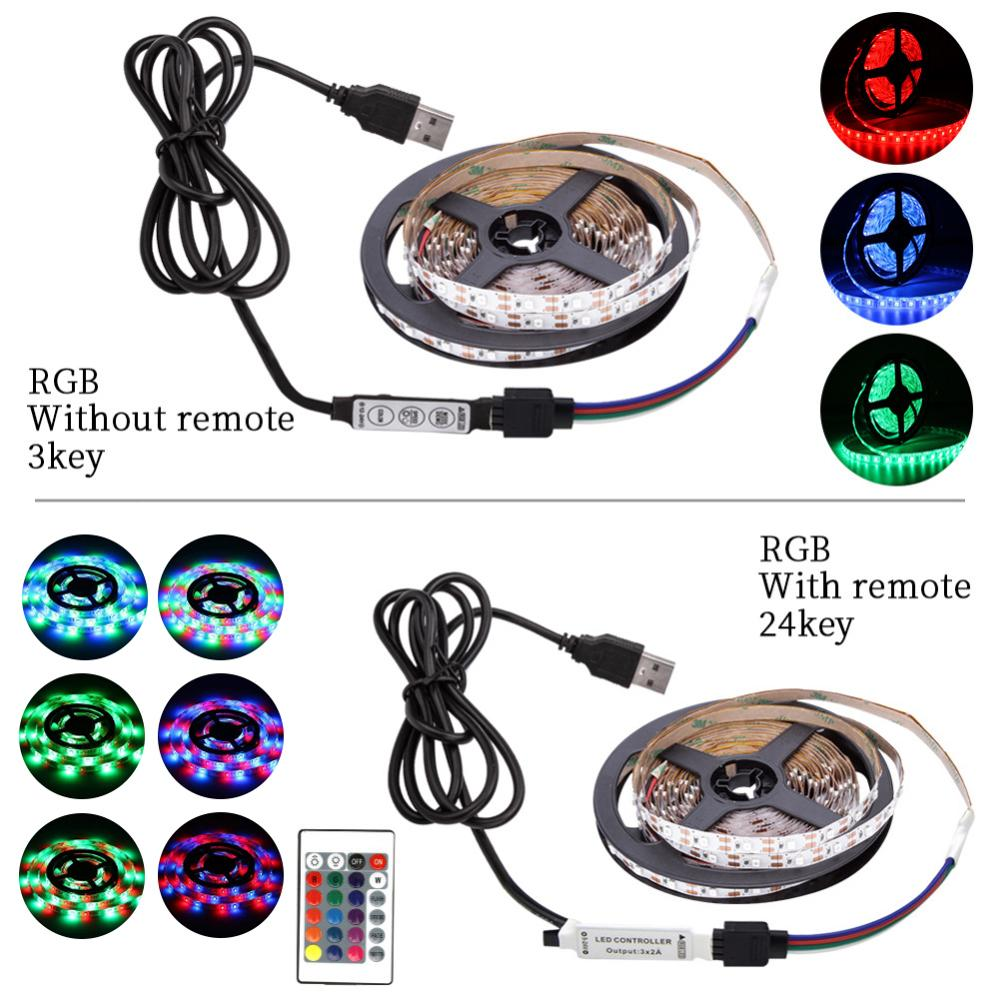 USB Mini 3key LED Strip DC 5V Flexible Light 60LEDs 50CM 1M 2M 3M 4M 5M USB Mini 3key LED Strip DC 5V Flexible Light 60LEDs 50CM 1M 2M 3M 4M 5M SMD 2835 Desktop Decor Screen TV Background Lighting