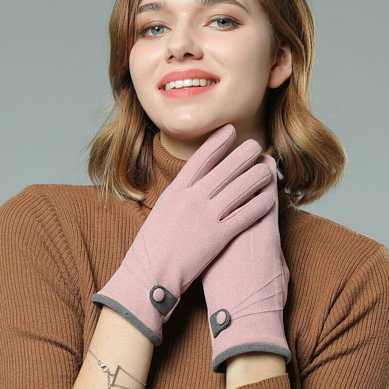 Новые модные женские уличные спортивные перчатки с сенсорным экраном Зимние Теплые повседневные флисовые Kintting перчатки для смартфонов Черные Серые розовые|Женские перчатки|   | АлиЭкспресс