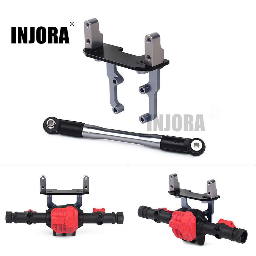 INJORA Metal Axle Servo Base Stand With Steering Link Rod For 1/10 RC Crawler Axial SCX10 II 90046 AR44 Axle