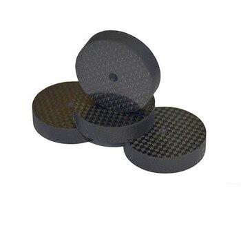 8 Pièces/lot 30mm * 10mm Noir En Fiber De Carbone Haut-parleur Pointe Tapis Socle Chaussure Isolation HIFI Mount