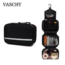 Vaschy bolsa de higiene pessoal portátil, kit de viagem à prova dágua para higiene pessoal, organizador para cosméticos, bolsa para barbear para homens e mulheres