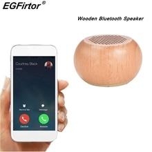 Taşınabilir Mini Bluetooth hoparlör ahşap hoparlör MP3 müzik kablosuz Stereo hoparlörler destek TF kart AUX USB şarj