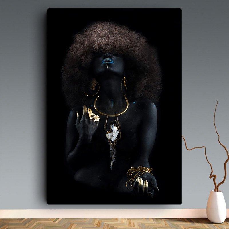 Black Woman With Golden Finger