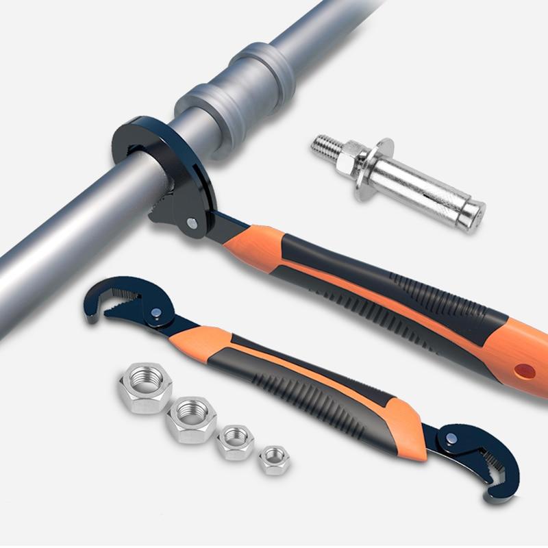 New 9-32/9-45MM Universal Keys Multi-Function Adjustable Portable Torque Ratchet Oil Filter Repair Pipe Spanner Hand Tools