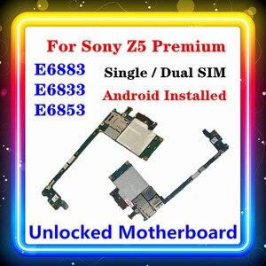 Image 1 - Dành Cho Sony Xperia Z5 Cao Cấp E6853 Bo Mạch Chủ E6883 E6833 Với Chip Cho Sony E6883 E6833 E6853 Bo Mạch Chủ Hệ Điều Hành Android