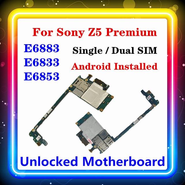 For Sony Xperia Z5 Premium E6853 Motherboard E6883 E6833 With Chips For Sony E6883 E6833 E6853 Motherboard Android OS