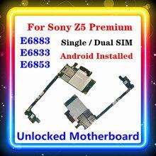 Para sony xperia z5 premium e6853 placa mãe e6883 e6833 com chips para sony e6883 e6833 e6853 placa mãe android os