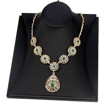 Sunspicems Gold Color Women Pendant Necklace Morocco Algeria Wedding Jewelry Indian Arab Party Bridal Bijoux Caftan Chain 2021 1