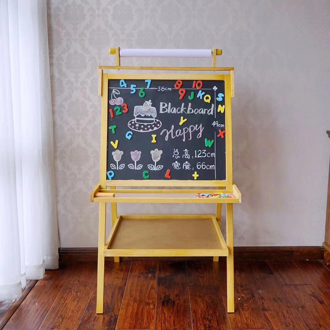 Children Drawing Board Double-Sided Magnetic Young STUDENT'S Blackboard Easel Braced Graffiti Whiteboard Baby Household Writing