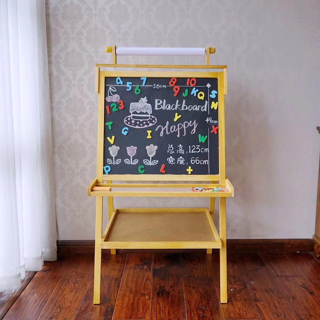 Tableau à dessin pour enfants tableau magnétique Double face tableau noir de jeune étudiant chevalet contreventé Graffiti tableau blanc bébé écriture domestique