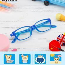 Cyxus, анти-синий светильник, очки для детей, компьютерные очки TR90, без бисфенола, силиконовая оправа для мальчиков и девочек 3-12-6009 лет