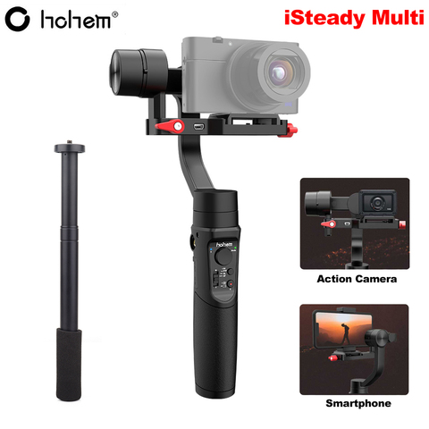 Estabilizador para Sony Hohem Isconstante Multi Handheld Cardan Canon Câmera Gopro Hero 7 6 5 Smartphone pk Zhiyun Guindaste m2 Feiyu 3-axis