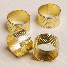10 Pcs/Bag High Quality Sewing Thimbles Ring Adjustable Ring Handworking Needlework Patchwork Tools Finger Protector Ring(China)